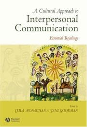 Cover of: A Cultural Approach to Interpersonal Communication |