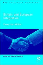 Cover of: Britain and European integration |