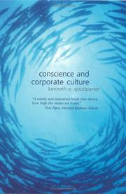 Cover of: Conscience and Corporate Culture (Foundations of Business Ethics) | Kenneth Goodpaster