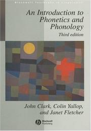 Introduction to Phonetics Phonology 3e