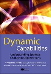 Cover of: Dynamic Capabilities Resource-Based Change in Organizations | Constance E. Helfat