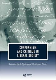 Cover of: Conformism and Critique in Liberal Society (Journal of Philosophy of Education)