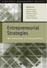 Cover of: Entrepreneurial Strategies | Arnold Cooper