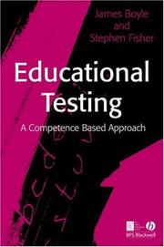 Cover of: Educational testing |