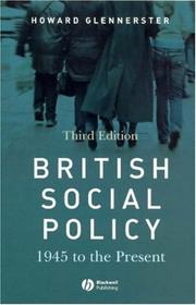 Cover of: British Social Policy