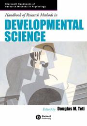 Cover of: Handbook of Research Methods in Developmental Science