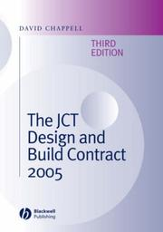 Cover of: The Jct Design and Build Contract 2005