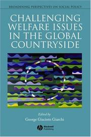 Cover of: Challenging Welfare Issues in the Global Countryside (Broadening Perspectives on Social Policy)