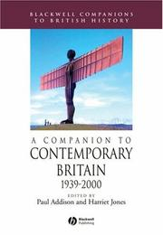 Cover of: A Companion to Contemporary Britain | Harriet Jones