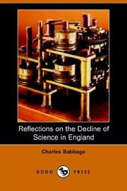 Reflections on the Decline of Science in England (Dodo Press)