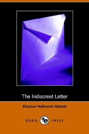 Cover of: The Indiscreet Letter