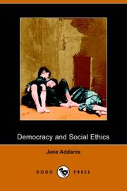 Cover of: Democracy and social ethics