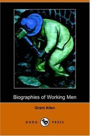 Cover of: Biographies of Working Men