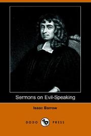 Cover of: Sermons on Evil-Speaking