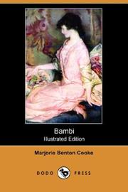 Cover of: Bambi (Illustrated Edition) (Dodo Press) | Marjorie Benton Cooke