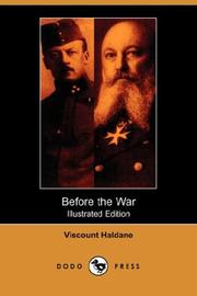 Cover of: Before the War