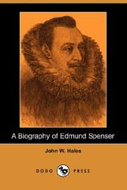 Cover of: A Biography of Edmund Spenser