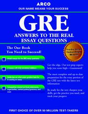 Cover of: GRE CAT Answers to Real Essay Questions