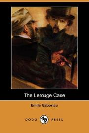 Cover of: The Lerouge Case