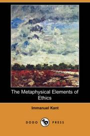 Cover of: The Metaphysical Elements of Ethics