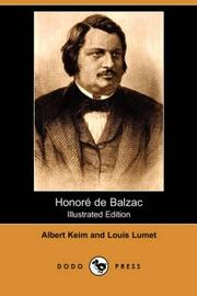 Cover of: Honore de Balzac (Illustrated Edition) | Albert Keim