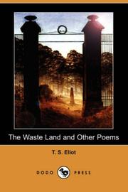 Cover of: The waste land and other poems