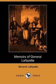 Cover of: Memoirs of General Lafayette