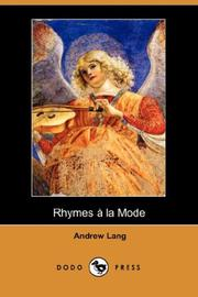 Cover of: Rhymes a la Mode