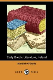Cover of: Early Bardic Literature, Ireland