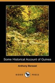 Cover of: Some historical account of Guinea