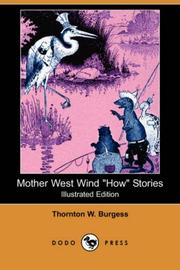 "Cover of: Mother West Wind ""how"" stories"