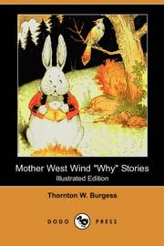 Cover of: Mother West Wind 'why' Stories