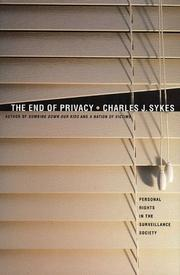 Cover of: The End of Privacy