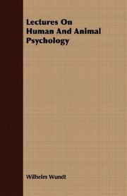 Cover of: Lectures on human and animal psychology