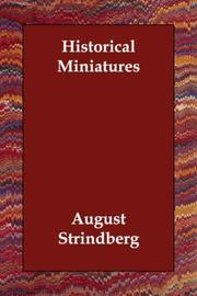 Cover of: Historical Miniatures | August Strindberg