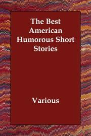 Cover of: The Best American Humorous Short Stories