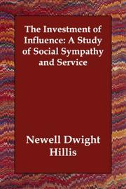 Cover of: The Investment of Influence | Newell Dwight Hillis