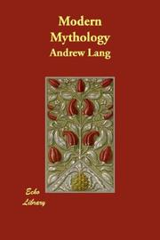 Cover of: Modern Mythology | Andrew Lang
