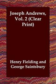Cover of: Joseph Andrews, Vol. 2 (Clear Print) | Henry Fielding
