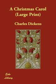Cover of: A Christmas Carol (Large Print) |