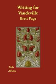 Cover of: Writing for Vaudeville | Brett Page