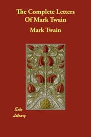 Cover of: Complete Letters of Mark Twain