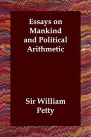 Cover of: Essays on Mankind and Political Arithmetic | Sir William Petty