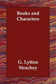 Cover of: Books and Characters
