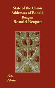 Cover of: State of the Union Addresses of Ronald Reagan