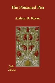 Cover of: The Poisoned Pen | Arthur B. Reeve