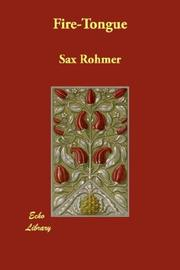 Cover of: Fire-Tongue | Sax Rohmer