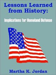 Cover of: Lessons Learned from History
