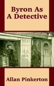 Cover of: Byron As a Detective