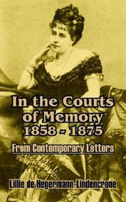 Cover of: In the Courts of Memory, 1858 - 1875